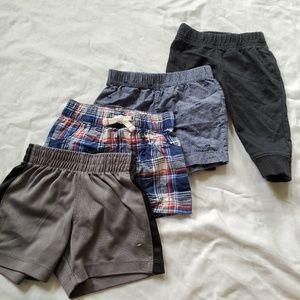 Baby boy pants shorts pant bundle
